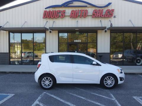 2012 Chevrolet Sonic for sale at DOUG'S AUTO SALES INC in Pleasant View TN