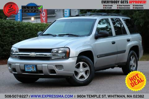 2004 Chevrolet TrailBlazer for sale at Auto Sales Express in Whitman MA