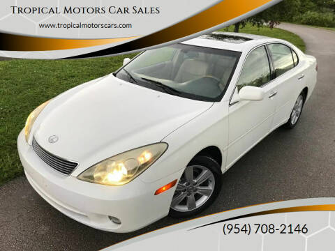 2005 Lexus ES 330 for sale at Tropical Motors Car Sales in Deerfield Beach FL