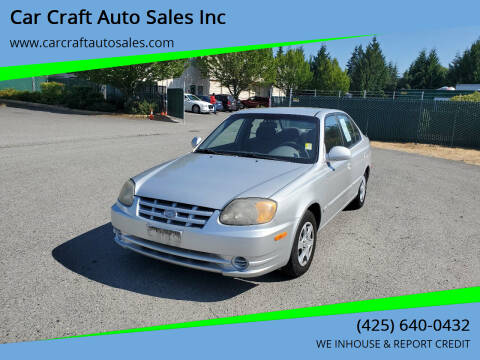 2005 Hyundai Accent for sale at Car Craft Auto Sales Inc in Lynnwood WA