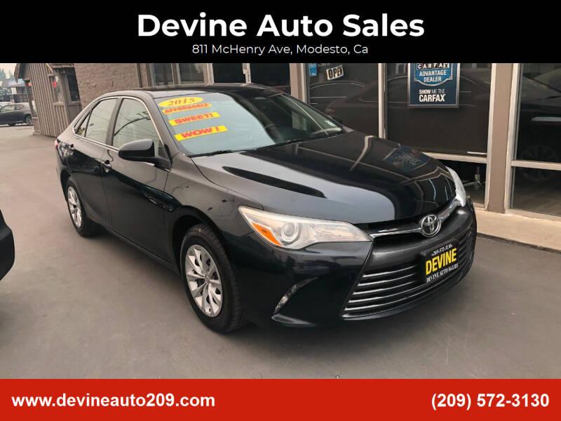 2015 Toyota Camry for sale at Devine Auto Sales in Modesto CA
