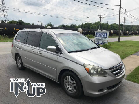 2006 Honda Odyssey for sale at SIMPSON MOTORS in Youngstown OH