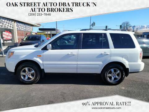 2008 Honda Pilot for sale at Oak Street Auto DBA Truck 'N Auto Brokers in Pocatello ID