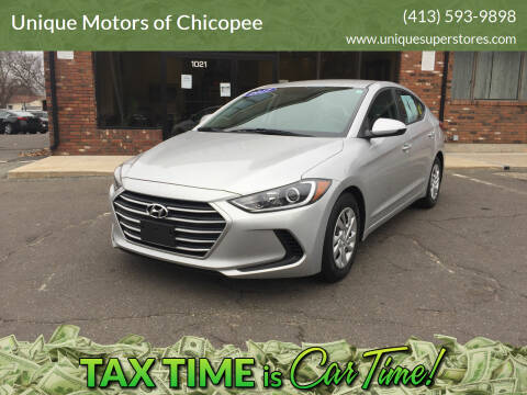 2017 Hyundai Elantra for sale at Unique Motors of Chicopee in Chicopee MA