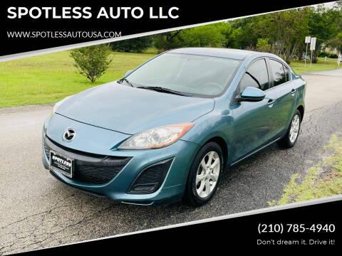 2010 Mazda MAZDA3 for sale at SPOTLESS AUTO LLC in San Antonio TX