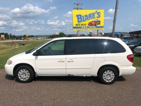 2006 Chrysler Town and Country for sale at Blake's Auto Sales in Rice Lake WI