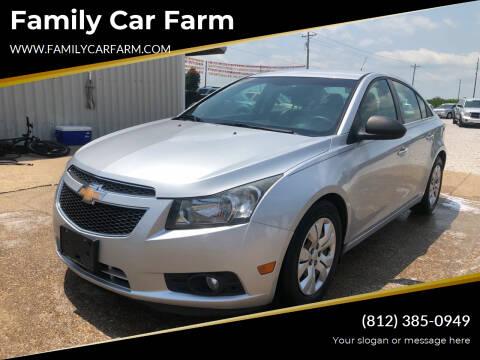 2012 Chevrolet Cruze for sale at Family Car Farm in Princeton IN