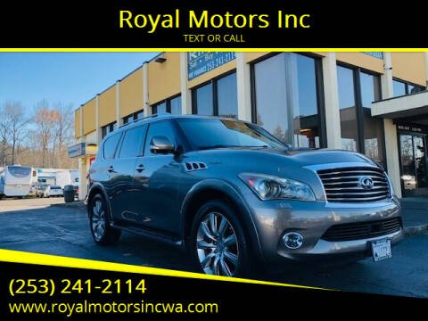 2013 Infiniti QX56 for sale at Royal Motors Inc in Kent WA