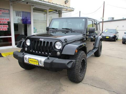 2014 Jeep Wrangler Unlimited for sale at Metroplex Motors Inc. in Houston TX