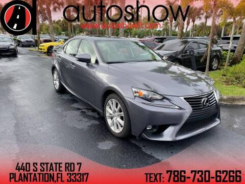 2016 Lexus IS 200t for sale at AUTOSHOW SALES & SERVICE in Plantation FL