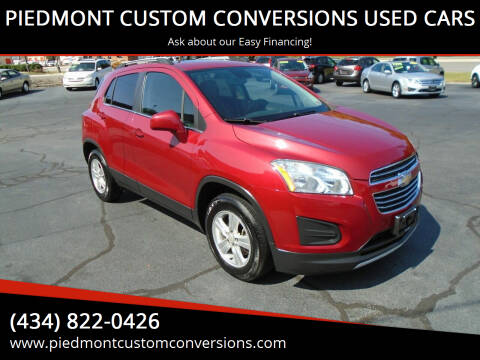 2015 Chevrolet Trax for sale at PIEDMONT CUSTOM CONVERSIONS USED CARS in Danville VA