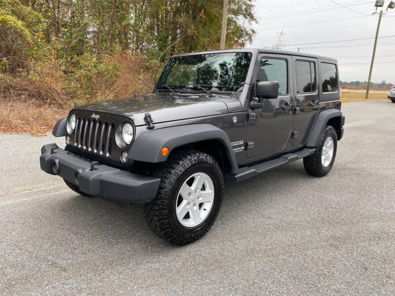 2017 Jeep Wrangler Unlimited for sale at Autoteam of Valdosta in Valdosta GA