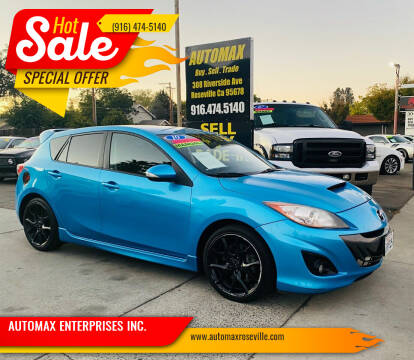 2010 Mazda MAZDASPEED3 for sale at AUTOMAX ENTERPRISES INC. in Roseville CA