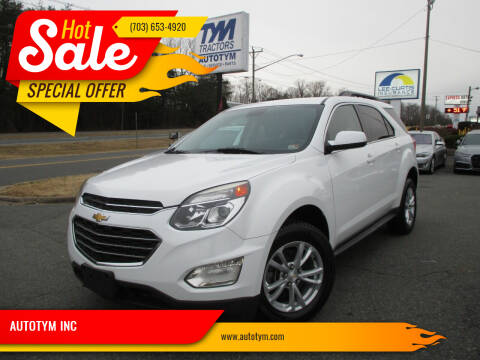 2016 Chevrolet Equinox for sale at AUTOTYM INC in Fredericksburg VA
