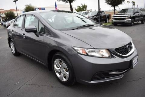 2015 Honda Civic for sale at DIAMOND VALLEY HONDA in Hemet CA