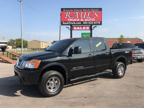 2015 Nissan Titan for sale at RAUL'S TRUCK & AUTO SALES, INC in Oklahoma City OK