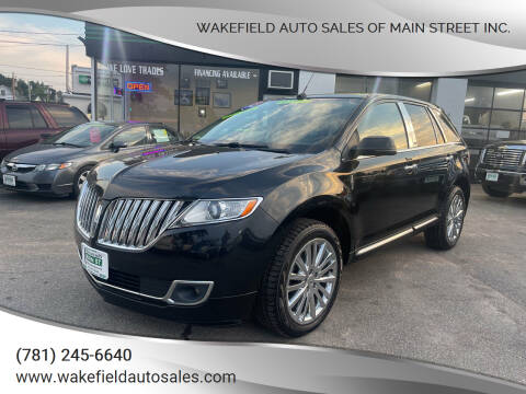 2013 Lincoln MKX for sale at Wakefield Auto Sales of Main Street Inc. in Wakefield MA