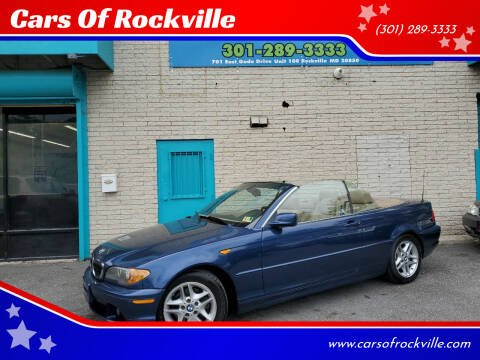2004 BMW 3 Series for sale at Cars Of Rockville in Rockville MD