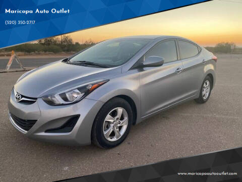 2015 Hyundai Elantra for sale at Maricopa Auto Outlet in Maricopa AZ