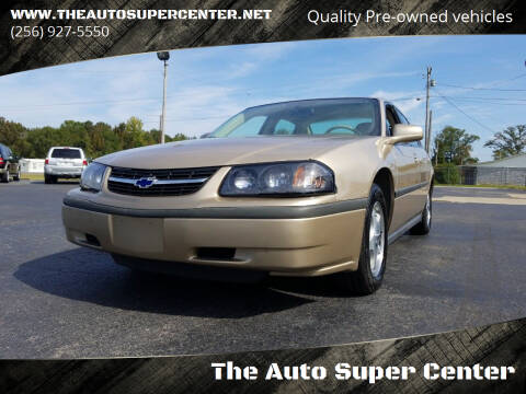2004 Chevrolet Impala for sale at The Auto Super Center in Centre AL