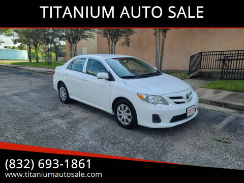 2013 Toyota Corolla for sale at TITANIUM AUTO SALE in Houston TX