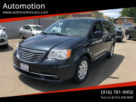 2014 Chrysler Town and Country for sale at Automotion in Roseville CA