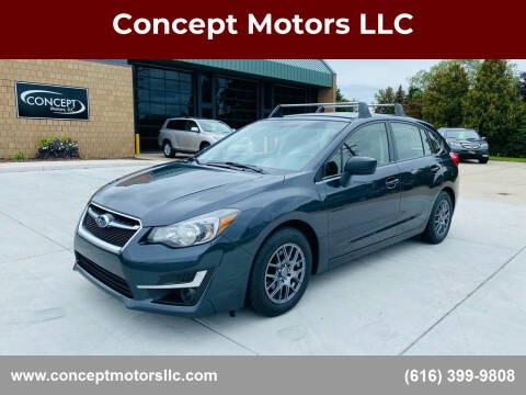 2016 Subaru Impreza for sale at Concept Motors LLC in Holland MI