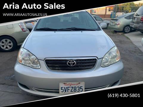 2006 Toyota Corolla for sale at Aria Auto Sales in El Cajon CA