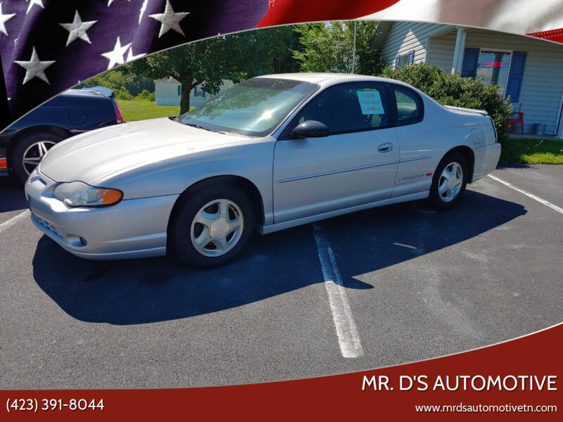 2001 Chevrolet Monte Carlo for sale at Mr. D's Automotive in Piney Flats TN