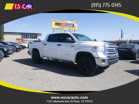 2016 Toyota Tundra for sale at Escar Auto - 9809 Montana Ave Lot in El Paso TX