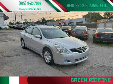 2012 Nissan Altima for sale at Green Ride Inc in Nashville TN