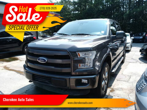 2015 Ford F-150 for sale at Cherokee Auto Sales in Acworth GA