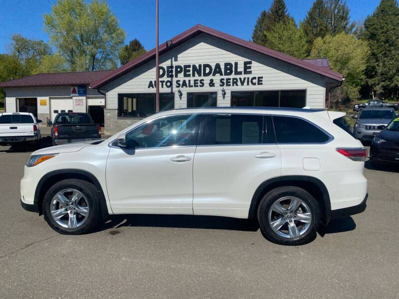 2016 Toyota Highlander for sale at Dependable Auto Sales and Service in Binghamton NY