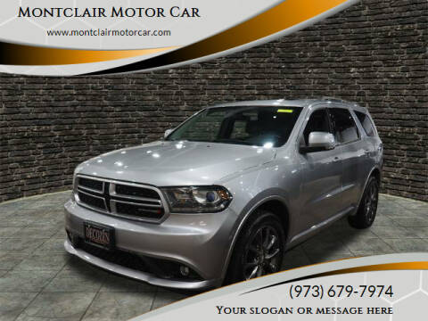 2017 Dodge Durango for sale at Montclair Motor Car in Montclair NJ