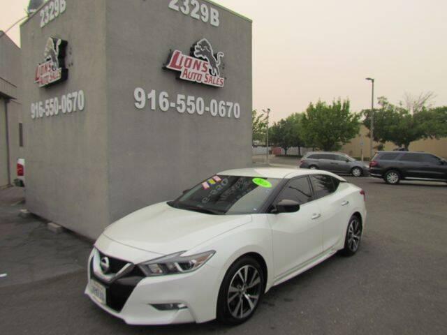 2016 Nissan Maxima for sale at LIONS AUTO SALES in Sacramento CA