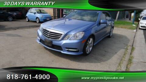2012 Mercedes-Benz E-Class for sale at Prestige Auto Sports Inc in North Hollywood CA