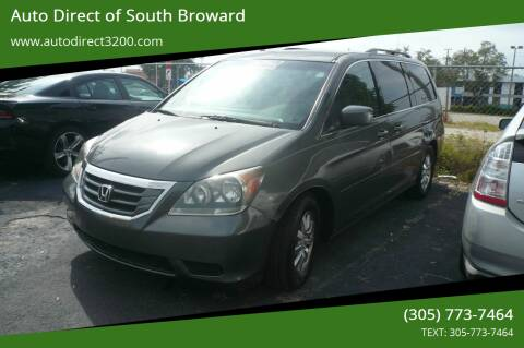 2008 Honda Odyssey for sale at Auto Direct of South Broward in Miramar FL