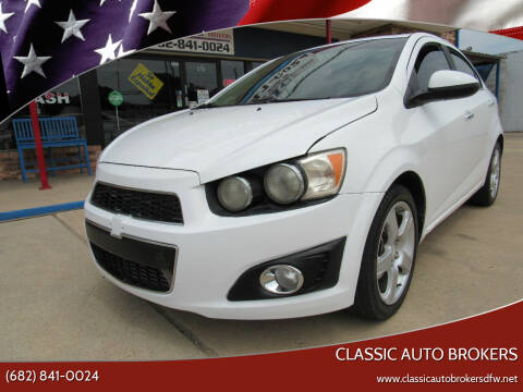 2013 Chevrolet Sonic for sale at Classic Auto Brokers in Haltom City TX