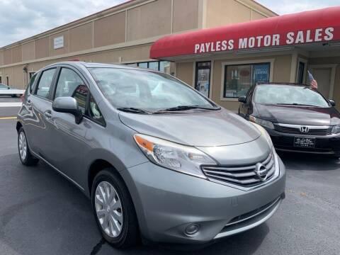 2014 Nissan Versa Note for sale at Payless Motor Sales LLC in Burlington NC