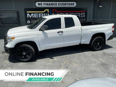 2015 Toyota Tundra for sale at Meru Motors in Hollywood FL