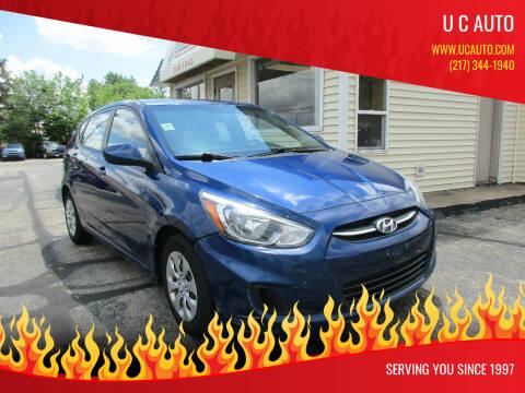 2015 Hyundai Accent for sale at U C AUTO in Urbana IL