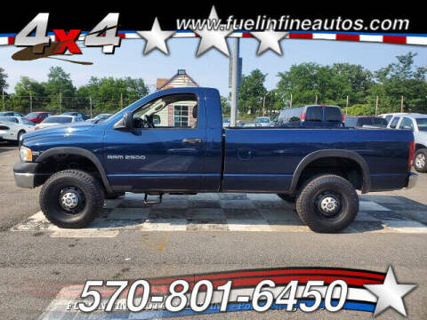 2005 Dodge Ram Pickup 2500 for sale at FUELIN FINE AUTO SALES INC in Saylorsburg PA