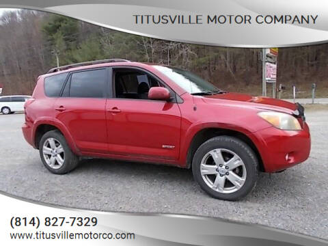2007 Toyota RAV4 for sale at Titusville Motor Company in Titusville PA