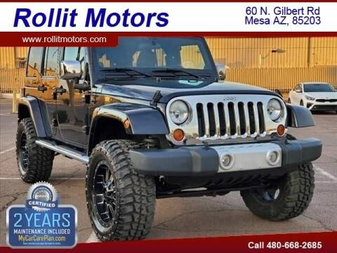 2012 Jeep Wrangler Unlimited for sale at Rollit Motors in Mesa AZ