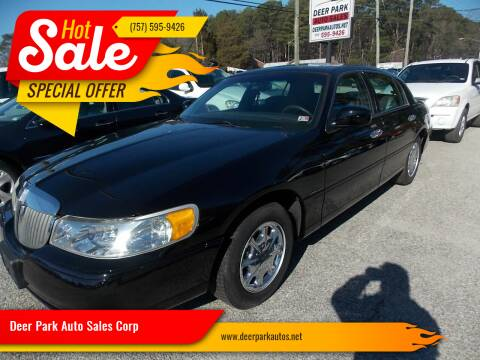 2000 Lincoln Town Car for sale at Deer Park Auto Sales Corp in Newport News VA