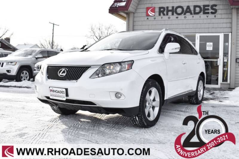 2011 Lexus RX 350 for sale at Rhoades Automotive in Columbia City IN