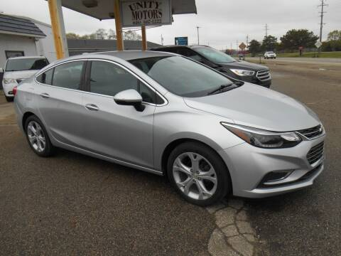 2017 Chevrolet Cruze for sale at Unity Motors LLC in Jenison MI