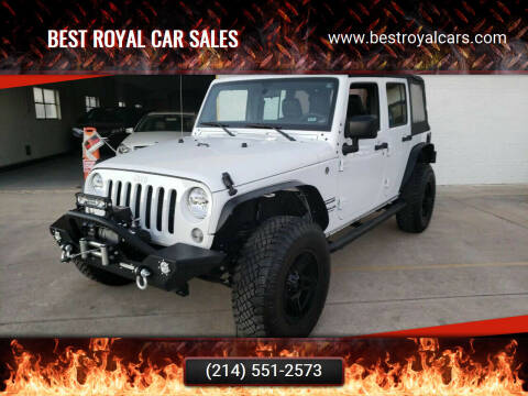 2017 Jeep Wrangler Unlimited for sale at Best Royal Car Sales in Dallas TX