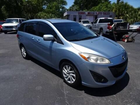 2013 Mazda MAZDA5 for sale at DONNY MILLS AUTO SALES in Largo FL