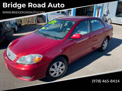 2004 Toyota Corolla for sale at Bridge Road Auto in Salisbury MA